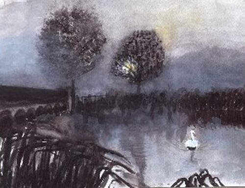 November Misty Morning – A Watercolour Painting