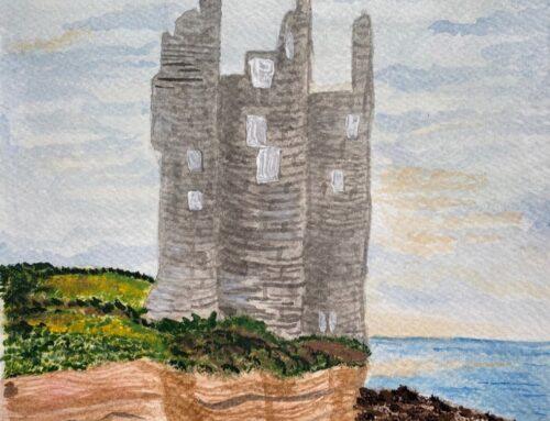 Su, Caithness Castle – A Watercolour Painting