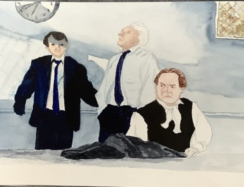 Frances, Three Faces – A Watercolour Painting