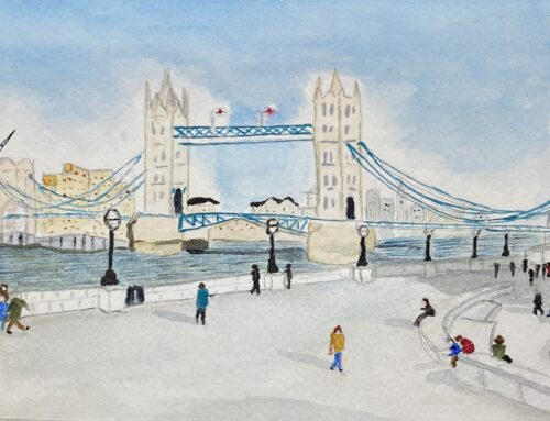 Frances, Tower Bridge – A Watercolour Painting