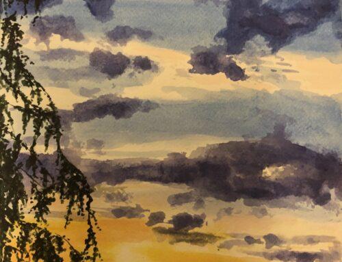 Bernadette, Sunset – A Watercolour Painting