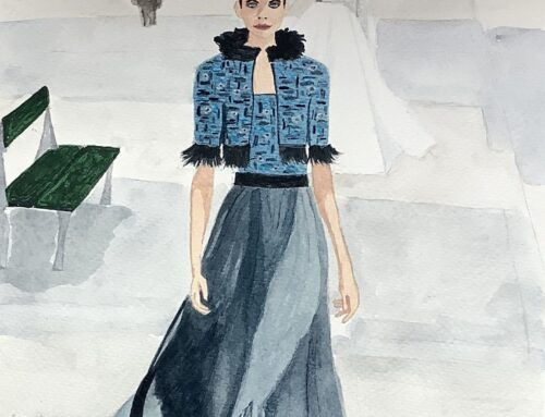 Frances, Fashion Show – A Watercolour Painting