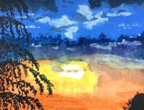Frances, Sunset – A Watercolour Painting
