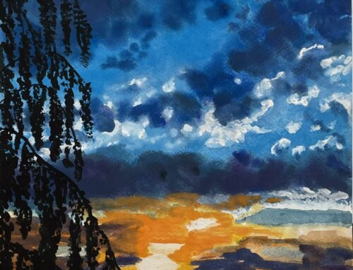 Sunset – A Watercolour Painting