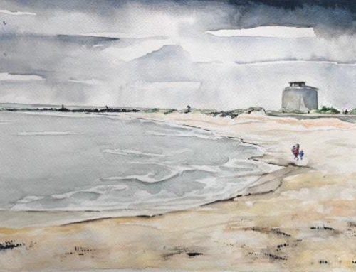 Bernadette, Martello Beach, Clacton on Sea – A Watercolour Painting