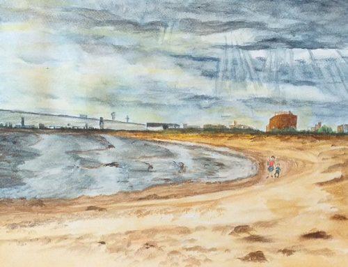 Glennis, Martello Beach Clacton on Sea – A Watercolour Painting
