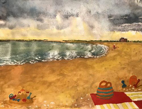 Martello Beach Clacton on Sea – A Watercolour Painting